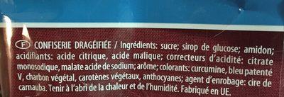 Dragibus - Ingredients