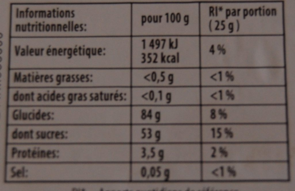Dragolo Haribo - Informations nutritionnelles - fr
