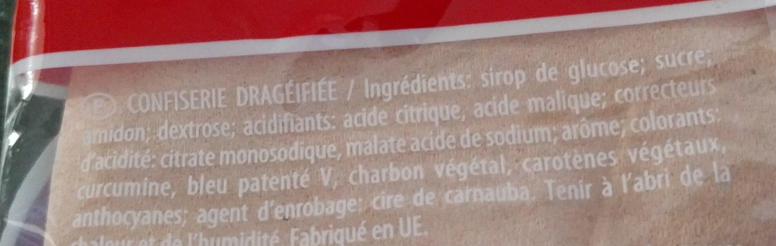 Dragibus - Ingrediënten