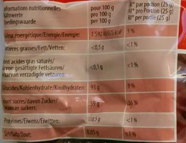 Dragibus soft - Nutrition facts
