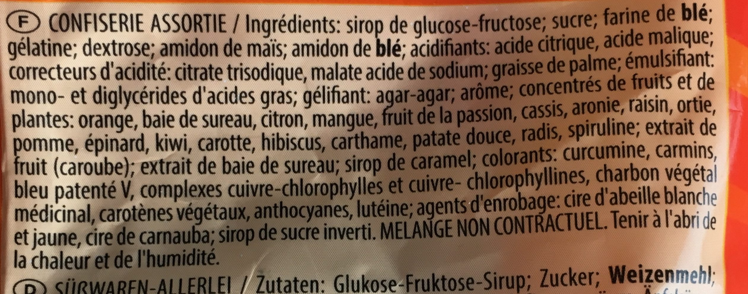 World Mix Haribo - Ingrediënten