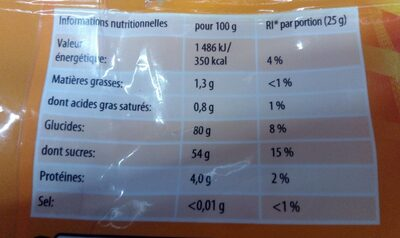 HARIBO world mix - Nutrition facts - fr