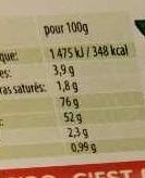 Cocobat - Informations nutritionnelles - fr