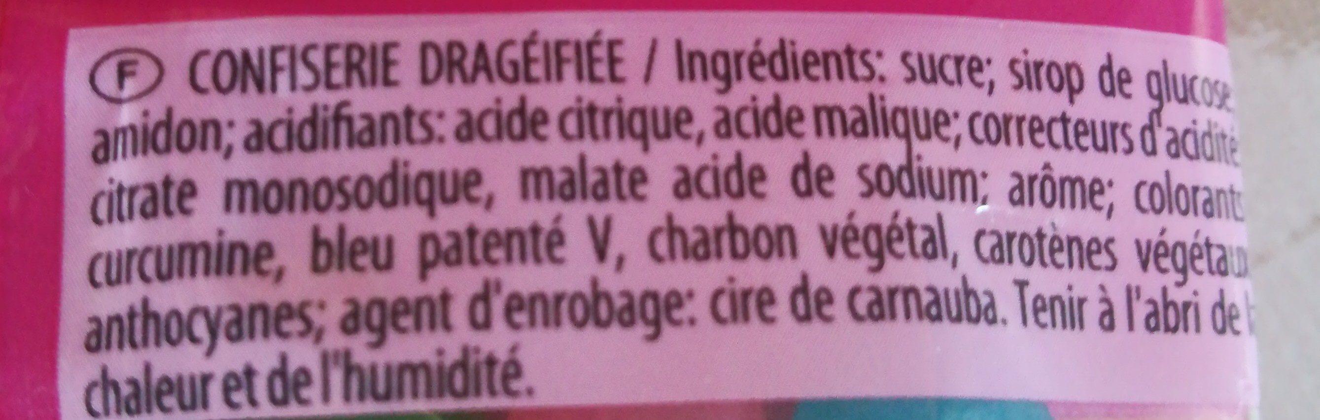 Dragibus - Ingrédients - fr