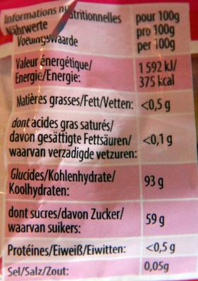 Dragibus - Voedingswaarden - fr