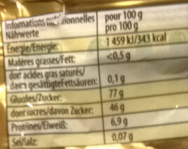 L'ours d'or - Nutrition facts