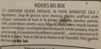 kiddies big box - Ingredienti - fr