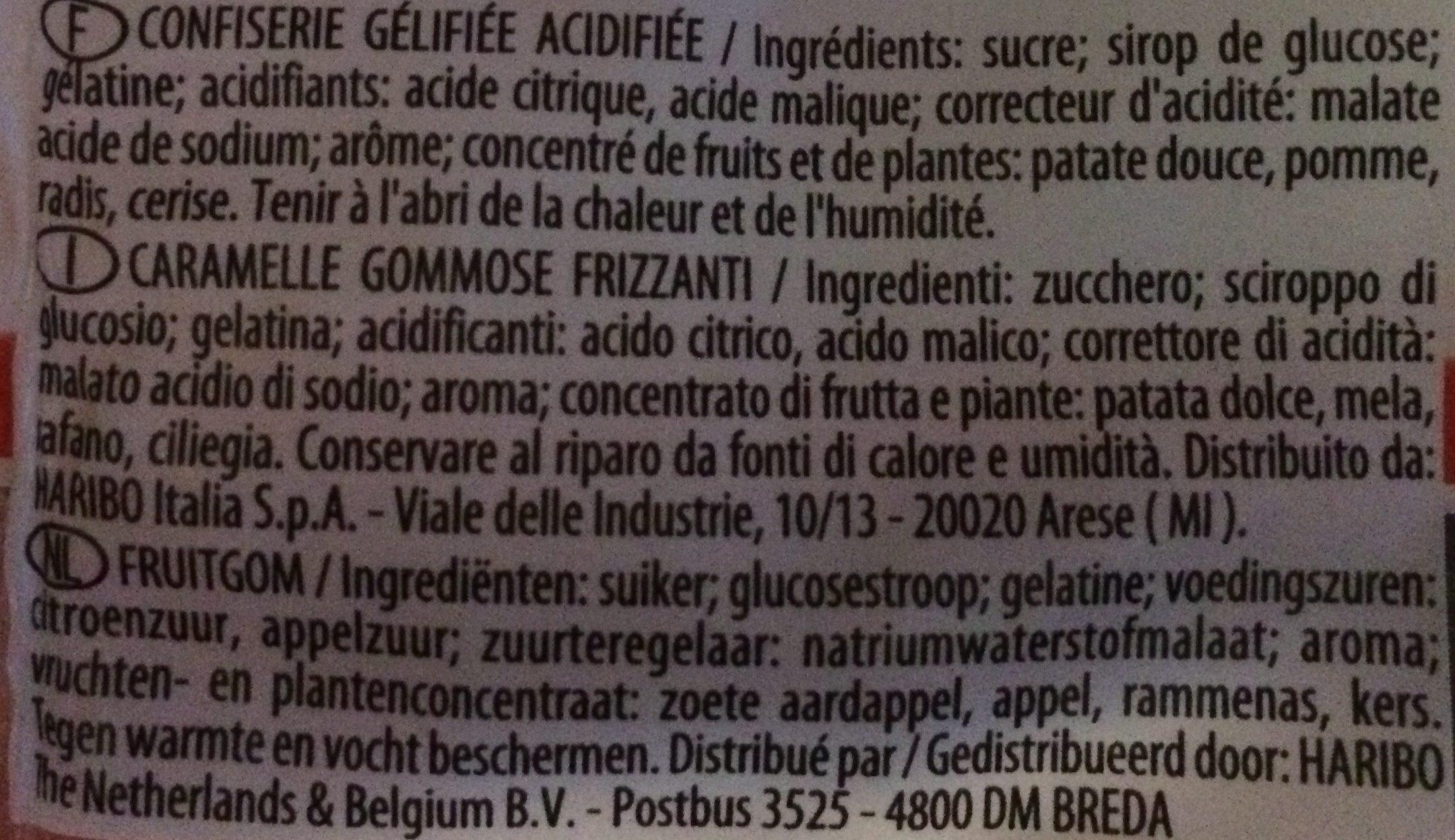 Tagada Pink - Ingredients