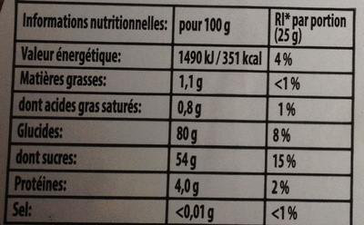 Haribo World Mix - Informations nutritionnelles - fr
