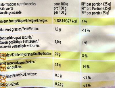 MIAMI P!k - Informations nutritionnelles