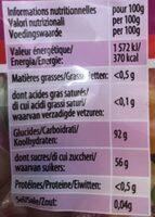 Dragibus BiCool - Informations nutritionnelles