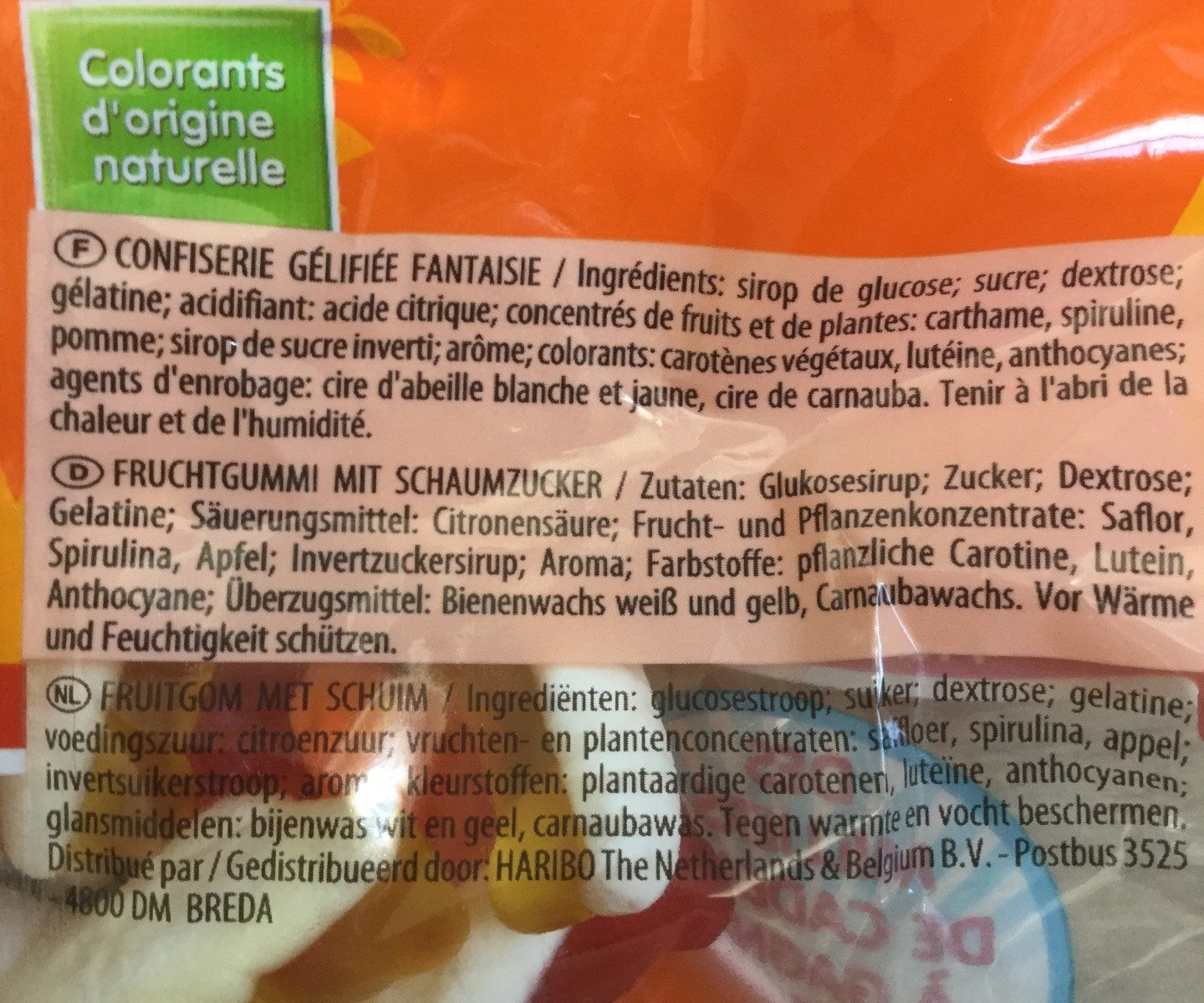 Haribo croco - Ingredients