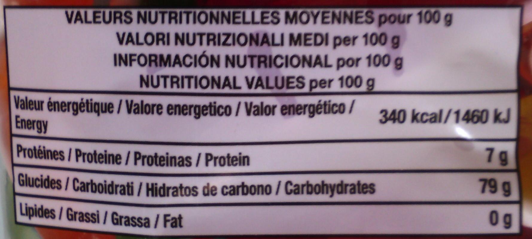 CROCO 280G - Valori nutrizionali