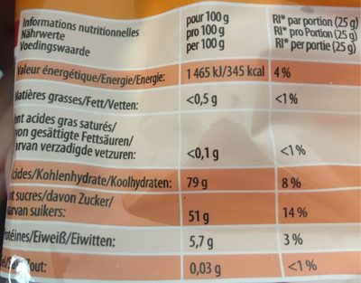 Haribo croco - Nutrition facts