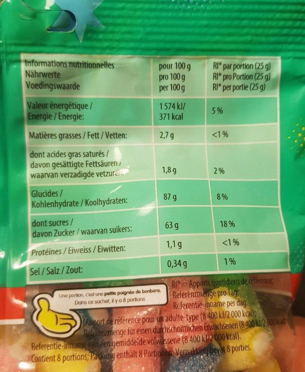 Rainbow Pik - Informations nutritionnelles - fr