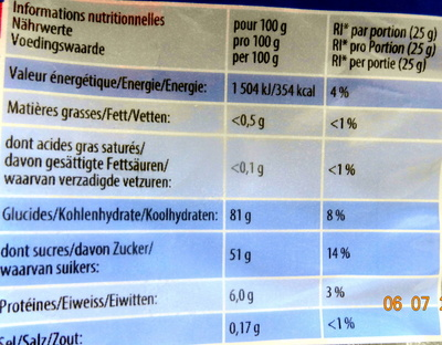 Orangina P!k - Nutrition facts