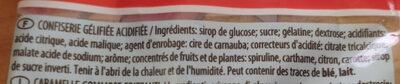 Schtroumpfs pik 275g - Ingrédients - fr
