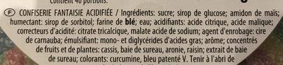 Bonbon Gélifié Miami Pik x 250 Pièces 1,17 - Ingrédients