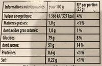 Bonbon Gélifié Miami Pik x 250 Pièces 1,17 - Informations nutritionnelles