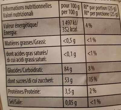 Dragolo 2kg - Nutrition facts - fr