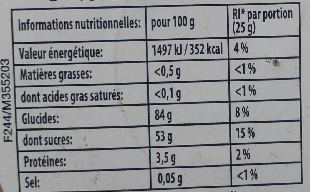 Dragolo - Voedingswaarden - fr