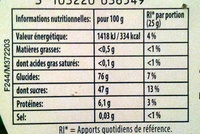 Happy box - Informations nutritionnelles - fr