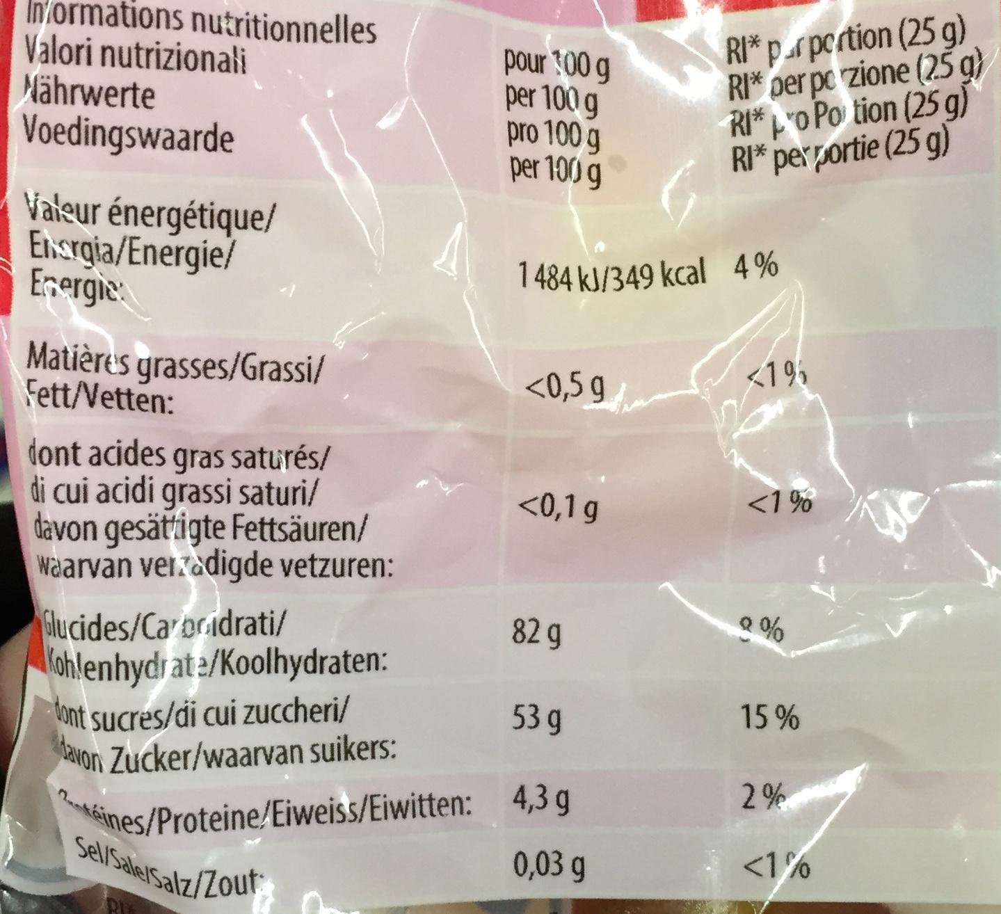 Déli'Cup - Informations nutritionnelles - fr