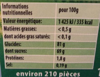 Chamallows Viva Samba - Voedingswaarden