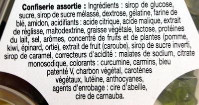 Bonbon - Ingrédients