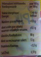 Haribo Dragibus Pik - Nutrition facts