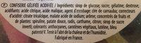 Academy Pik - Bonbon gélifié - Ingrédients - fr