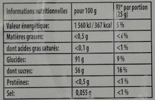 Dragibus soft - Informations nutritionnelles