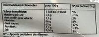 Mini Stick Sch Pik - Informations nutritionnelles - fr