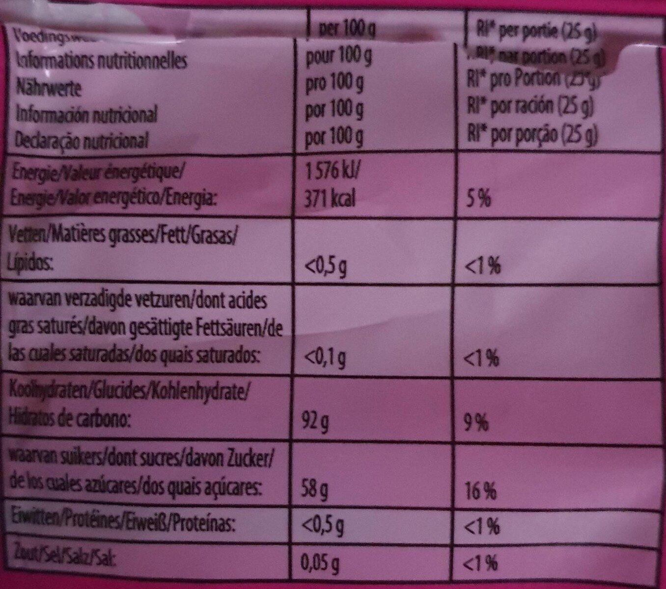 Dragibus Soft - Informació nutricional - fr