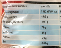 Special Edition - Informations nutritionnelles - fr