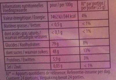 Spécial edition - Informations nutritionnelles