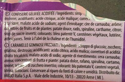 Bonbons Cap's Mania Pik Haribo 100GR - Ingrédients
