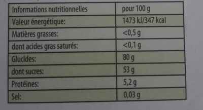 Bonbons Happy' Mix - Nutrition facts