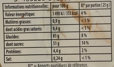 Generation Haribo - Nutrition facts - fr