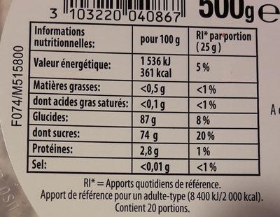 Bonbons Tagada L'Originale - Información nutricional