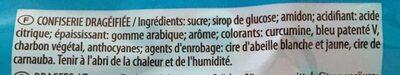 Bonbons Dragibus Color Pops le sachet de 200 g - Ingredients