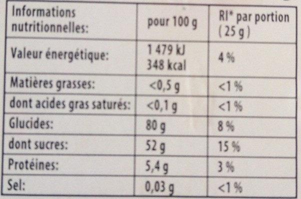 Bonbons Happy' box 850 g - Informations nutritionnelles - fr