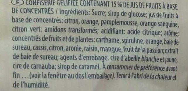 Fruitmania Agrumes - Ingredients