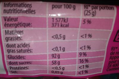 Dragibus - Informations nutritionnelles - fr
