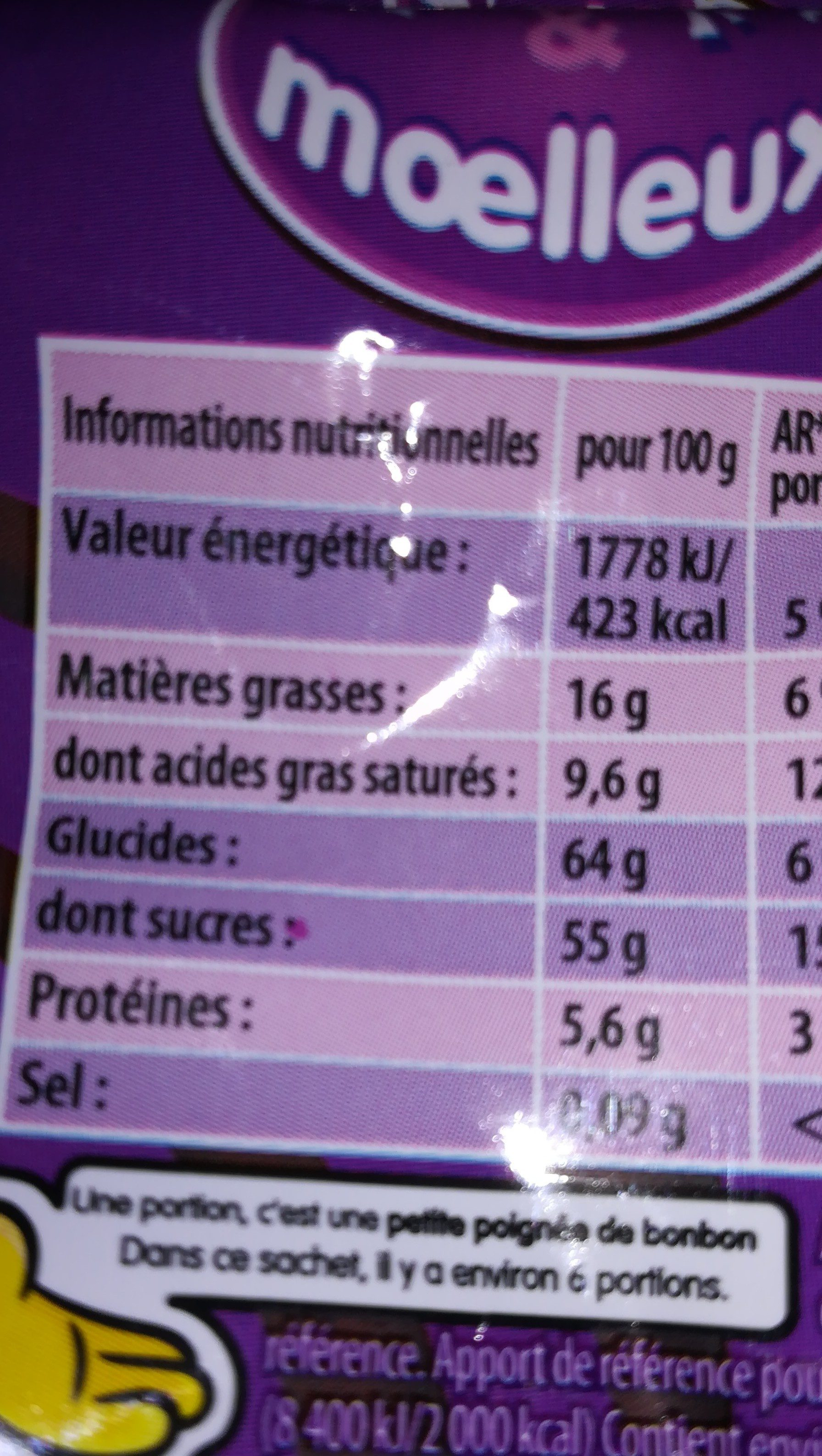 Chamallows Choco - Informations nutritionnelles - fr