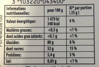 Haribo For You ! - Informations nutritionnelles - fr