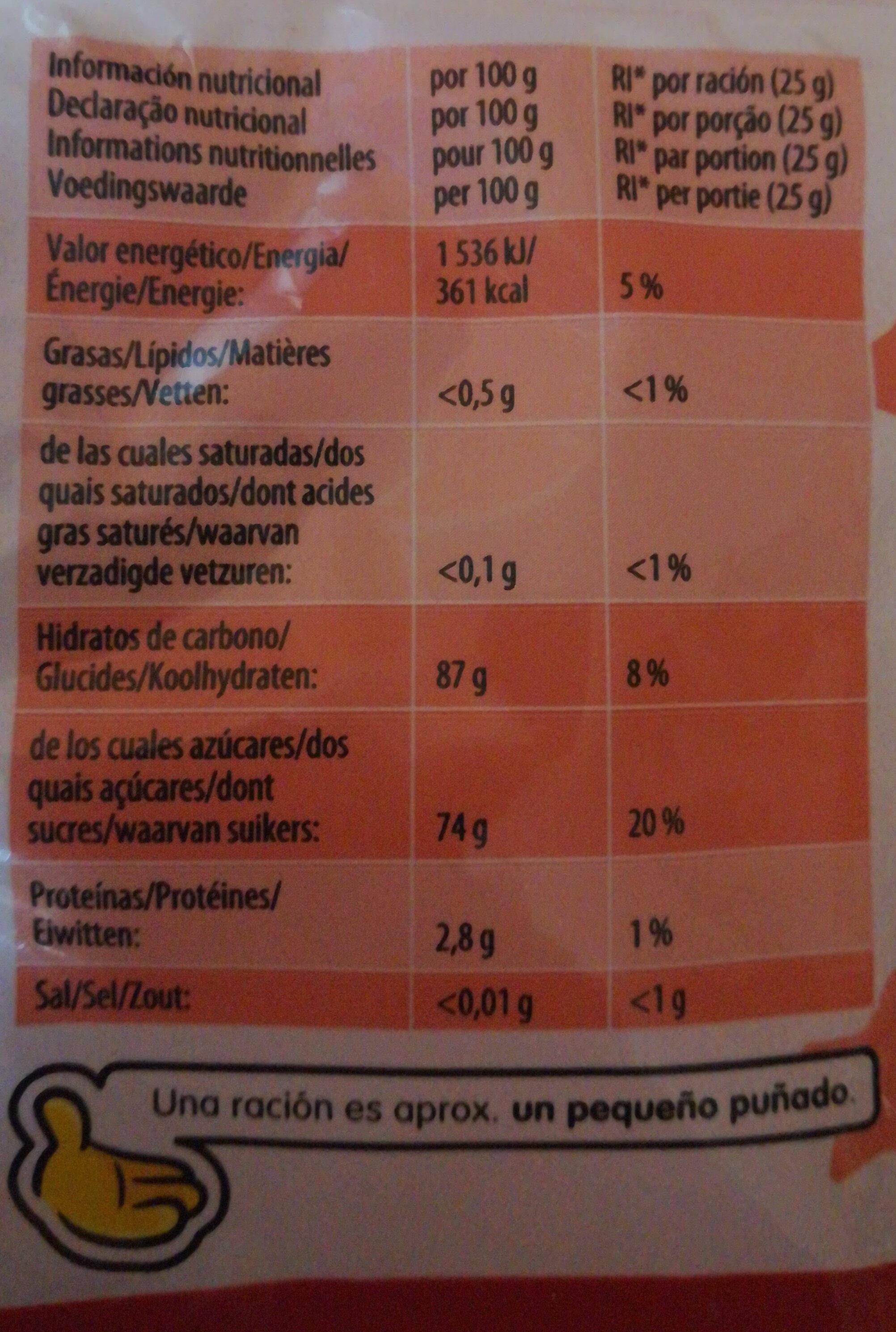 Tagada - Informations nutritionnelles - fr