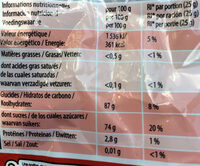 Tagada RED - Informations nutritionnelles