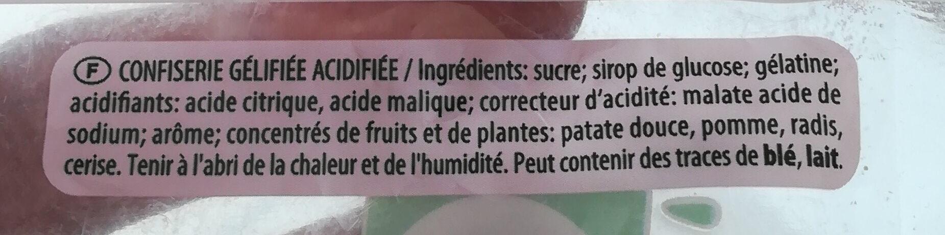 Tagada Pink et pik - Składniki - fr
