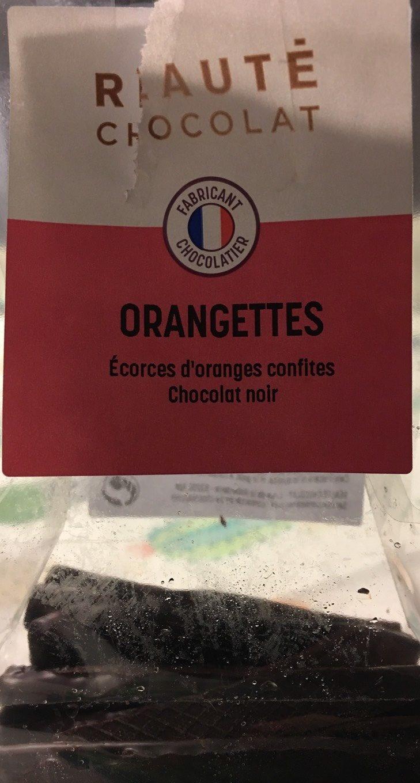 Orangettes Chocolat Noir - Produit